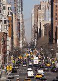 Direção do tráfego de New York City da parte alta da cidade Fotos de Stock Royalty Free