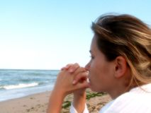 Dire au-revoir à la mer Photographie stock