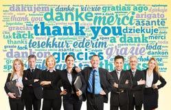 Dire d'équipe d'affaires vous remercient Photo libre de droits