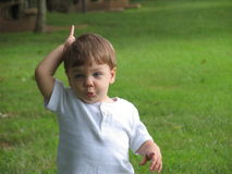 Dire del bambino freddo Fotografia Stock