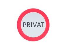 Dire rotondo del segno privato Immagine Stock