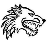 Dire wolf head Stock Image