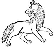 Dire wolf Stock Images