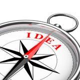 Dirección al primer conceptual del compás de la idea representación 3d Foto de archivo