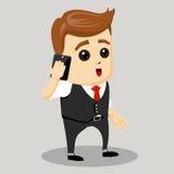 Dirección de la motivación del negocio Hombre de negocios que habla en el teléfono celular Fotos de archivo libres de regalías