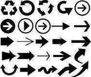 Dirección de los indicadores de flecha Imagen de archivo