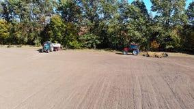 Dirección del campo del tractor metrajes