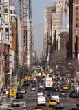 Dirección del tráfico de New York City de la parte alta Fotos de archivo libres de regalías