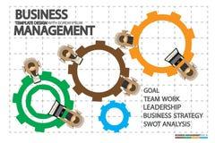 Dirección en negocio con conceptos humanos de la gestión Fotografía de archivo libre de regalías