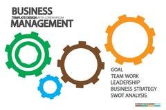 Dirección en negocio con conceptos humanos de la gestión Fotografía de archivo