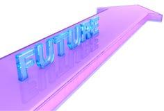 Dirección futura cristalina Fotos de archivo libres de regalías
