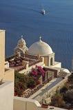 Dirección hacia Santorini Imagenes de archivo