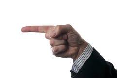 Dirección punteaguda del dedo Imágenes de archivo libres de regalías