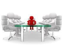 Dirección y equipo en la mesa de reuniones Fotografía de archivo libre de regalías
