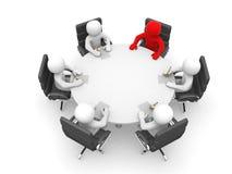 Dirección y personas en la mesa de reuniones Imagen de archivo libre de regalías