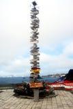 Direccional firme adentro la Antártida Imagen de archivo