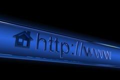 Direccionamiento del homepage del Internet ilustración del vector
