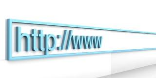 Direccionamiento del Web Foto de archivo