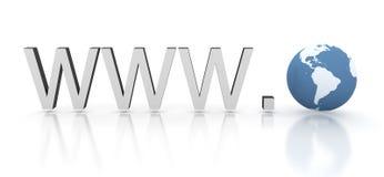 Direccionamiento del Web del Internet con tierra ilustración del vector