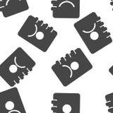Direccionamiento y list?n de tel?fonos Icono del vector de un cuaderno para el modelo inconsútil de registración de los números d stock de ilustración
