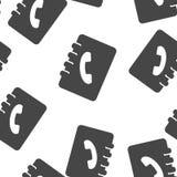 Direccionamiento y list?n de tel?fonos Icono del vector de un cuaderno para el modelo inconsútil de registración de los números d libre illustration