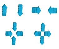 direcciones de la flecha 3d Fotos de archivo libres de regalías