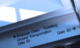 Direcciones del aeropuerto Imagen de archivo