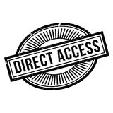 Direct Access rubber stamp Stock Images