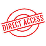 Direct Access rubber stamp Stock Image