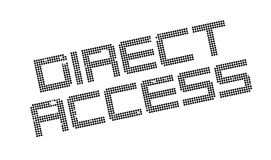 Direct Access rubber stamp Royalty Free Stock Images