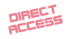 Direct Access rubber stamp Royalty Free Stock Image