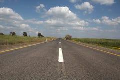 Direct asphalt road. Israel Golan Heights Stock Photography
