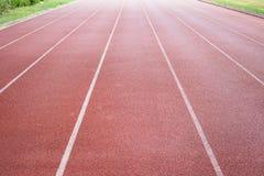 Direct athletics Running track. At Sport Stadium Royalty Free Stock Photography