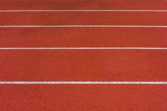 Direct athletics Running track at Sport Stadium royalty free stock images
