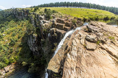 Direct at the Berlin Falls in Blyde River area, South Africa Royalty Free Stock Photography