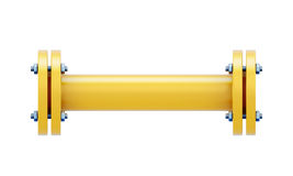Direct connection portion of the gas pipe Stock Image