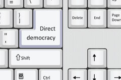 Direct democracy. Public participation in a better democratic society Royalty Free Stock Photo