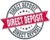 Direct deposit round grunge stamp Stock Photo