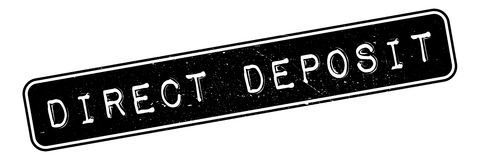 Direct Deposit rubber stamp Stock Photos