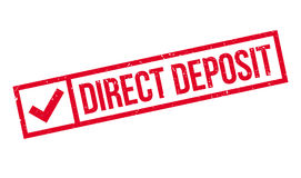 Direct Deposit rubber stamp Stock Photography