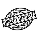 Direct Deposit rubber stamp Stock Image