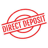 Direct Deposit rubber stamp Royalty Free Stock Photos