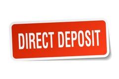 Direct deposit sticker on white Royalty Free Stock Image