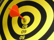 A Direct Hit!. A Direct Hit bulls eye Royalty Free Stock Image