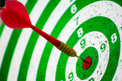 Direct hit on target stock photography