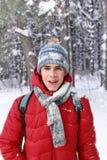 Direct kastar snöboll hit   fotografering för bildbyråer