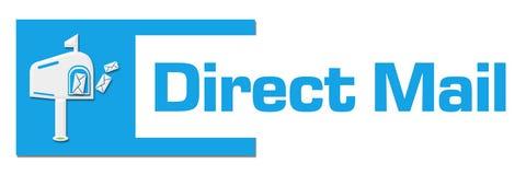 Direct mail Blauwe Abstracte Bar stock illustratie