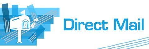 Direct mail Blauwe Gestreken Strepen vector illustratie
