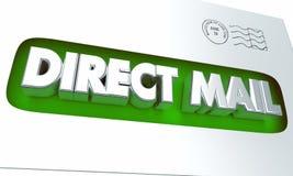 Direct Mail Envelope Advertising Marketing Campaign 3d Illustration stock illustration