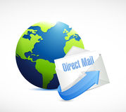 direct mail globe illustration design Royalty Free Stock Photography